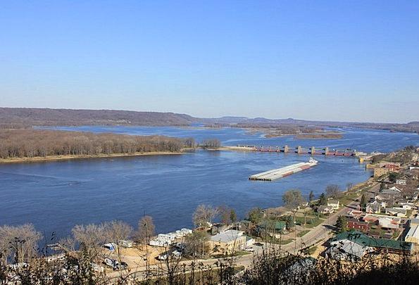 Mississippi River Landscapes Nature Wilderness Was