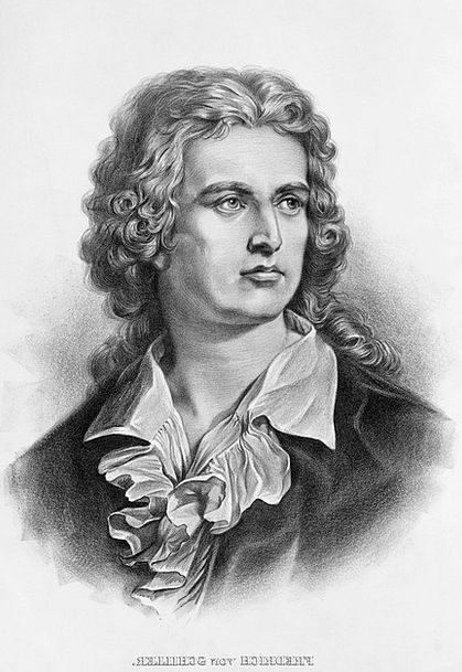 Friedrich Schiller Bard Writer Author Poet Black A
