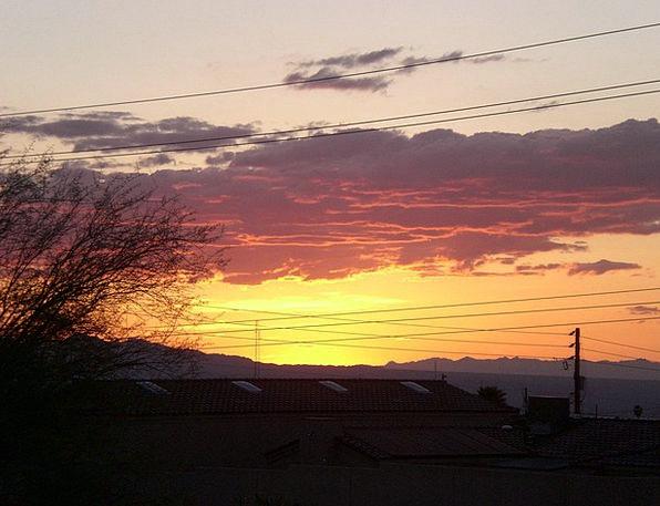 Arizona Vacation Sundown Travel Clouds Vapors Suns
