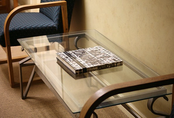 Glass Cut-glass Bench Office Workplace Table Indoo