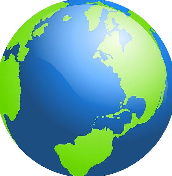 Spherical World Map.Globe Vacation Soil Travel World Biosphere Earth Ocean Map
