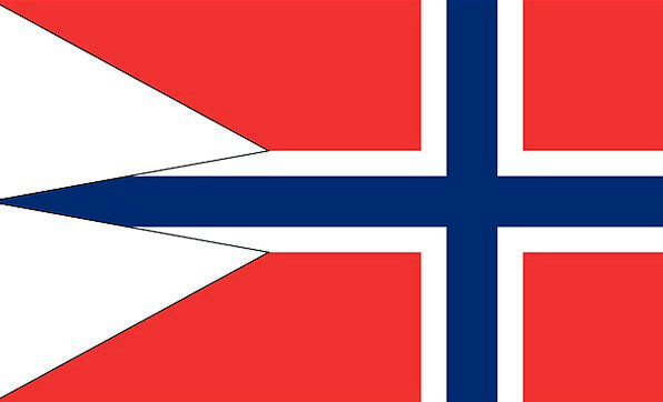 Norway Standard War Conflict Flag Variant State Na