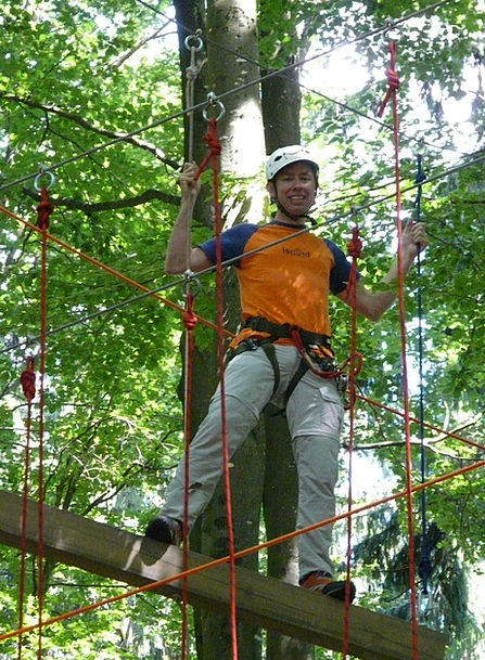 High Ropes Course Gentleman Person Being Man Drex
