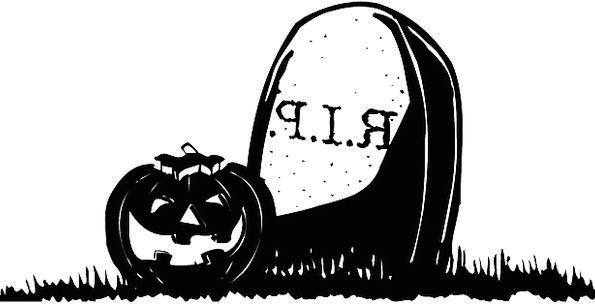 Halloween Gravestone Headstone Jack O Lantern Tomb