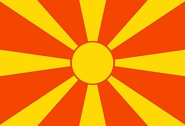 Macedonia Standard Republic State Flag Yellow Sun