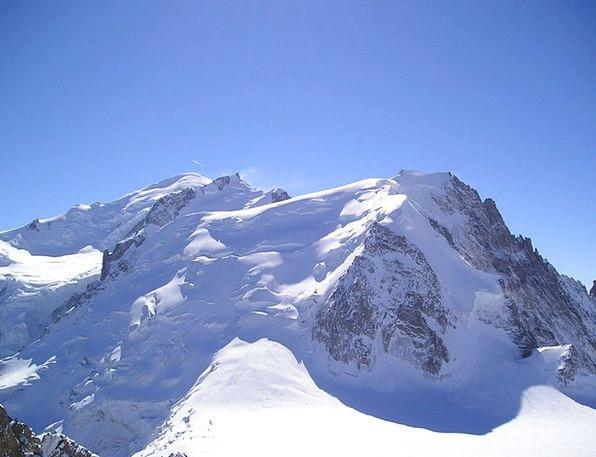 Mont Blanc Chamonix Mont Blanc Du Tacul Alpine Mou