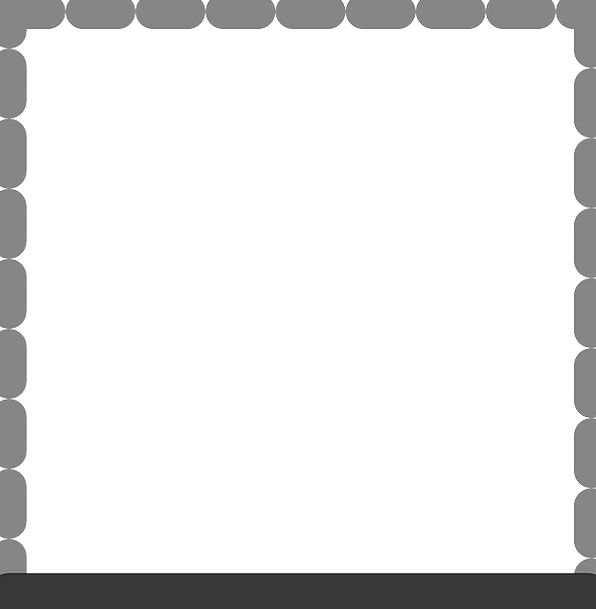 Bottom Lowest Edge Dotted Scattered Border Format