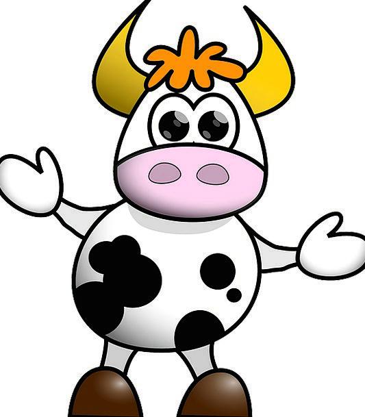 Cow Intimidate Animation Funny Humorous Cartoon Hu