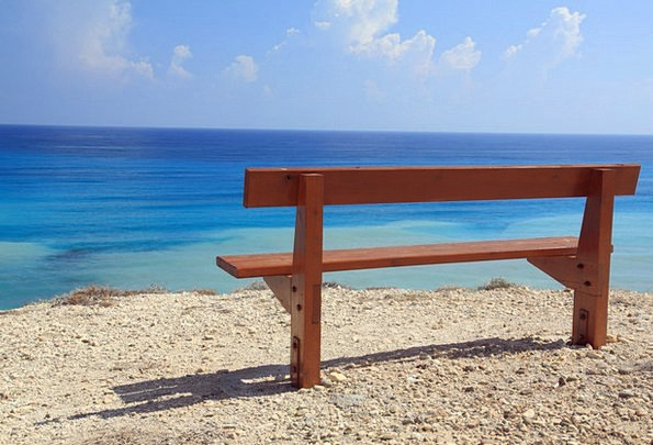 Bench Seat Landscapes Azure Nature Coast Shore Blu