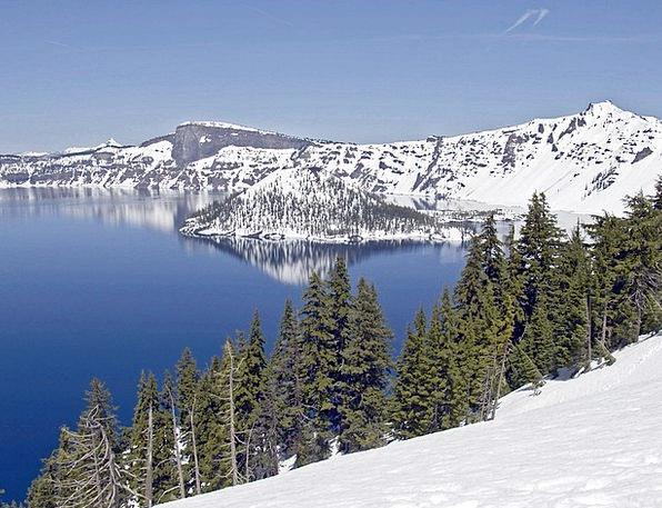 Crater Hollow Landscapes Freshwater Nature Oregon