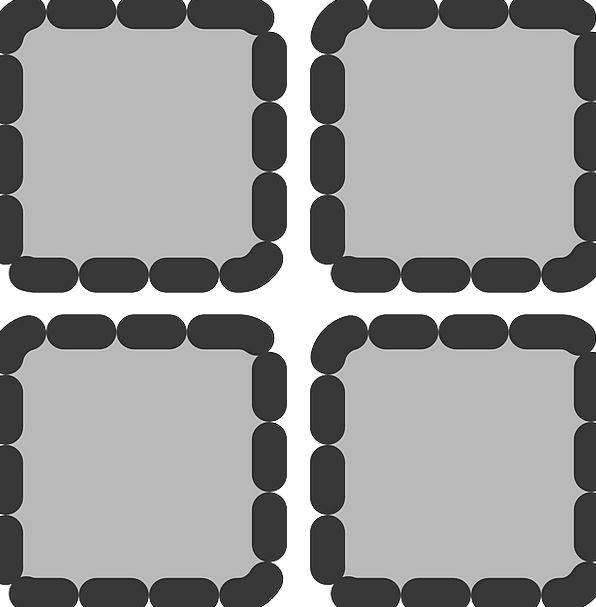 Thumbnails Scattered Grey Old Dotted Square Four-s