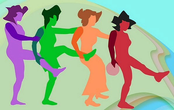 Dance Ball Bopping Four Dancing Green People Publi