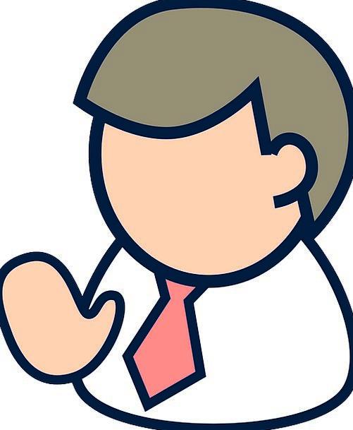 Figure Number Gentleman Employee Worker Man Hello