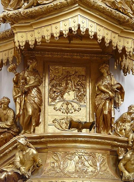 Pulpit Podium Excellent Gilded Golden Passauer Ste