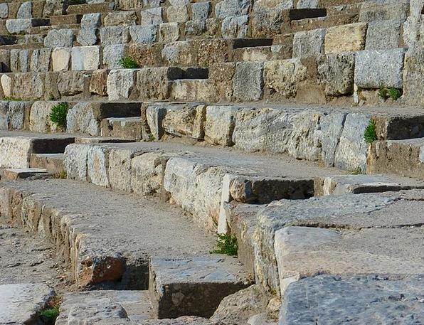 Ruins Shells Theater Playhouse Ephesus Great Theat