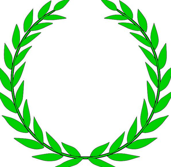 Laurel Wreath Prize Wreath Garland Award Free Vect