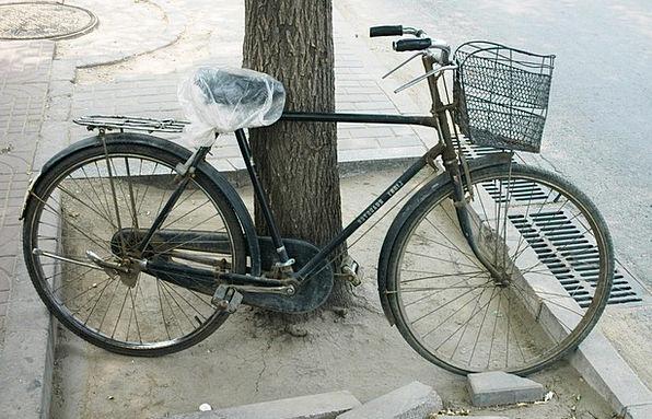 Bicycle Motorbike Parked Bike Cycle Series Fun Rid