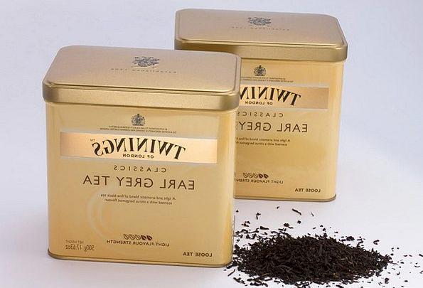Black Tea Tee T-shirt Tea Tins Hot Drink Earl Gray