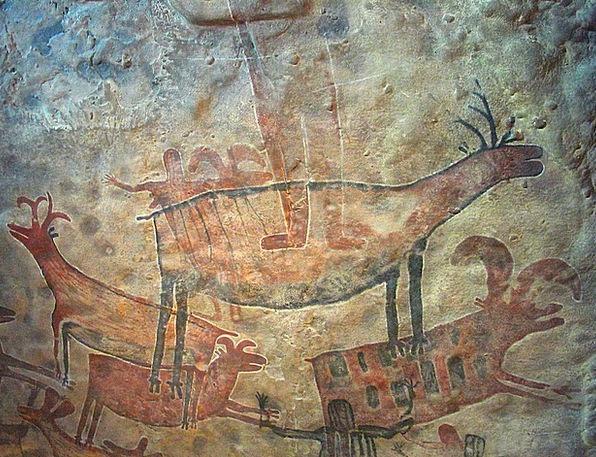 Cave Paintig Primeval Rupestral Prehistoric Antiqu