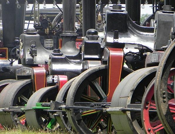Steam Vapor Train Traction Grip Engine Old Ancient