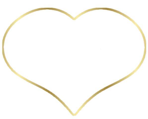 Golden Heart Emotion Doré Heart Love Darling Bride
