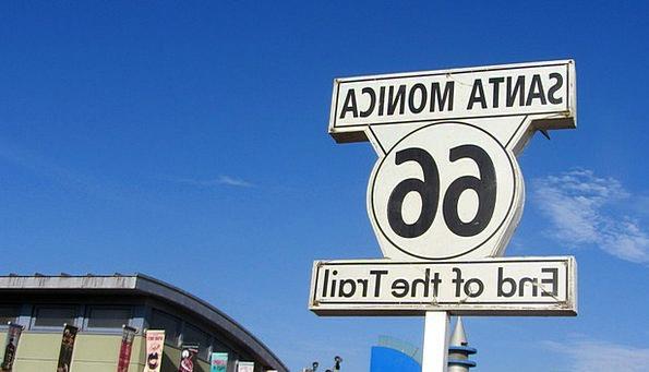 Route 66 Traffic Transportation United States Sant