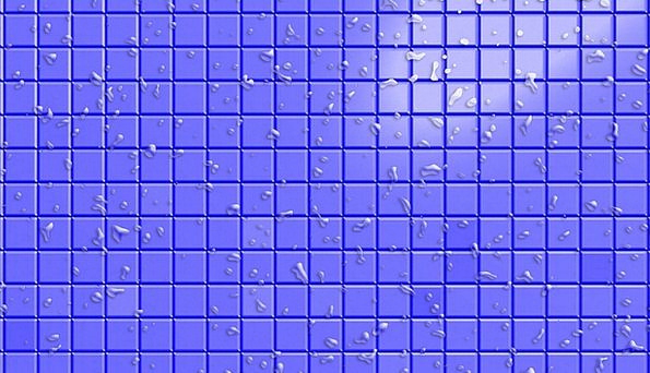 Tile Inlay Four-sided Water Aquatic Square Humidit
