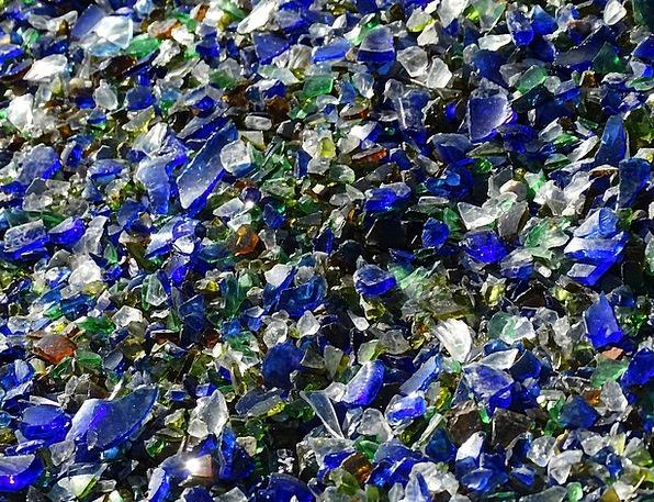 Shard, Sliver, Cut-glass, Broken Glass, Glass, Decorative, Garden, Plot,  Shiny, Green, Blue, Color, Lime, White   PixCove