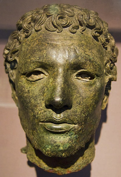 Temple Of Apollo Libya Cyrene Bronze Figurine Head