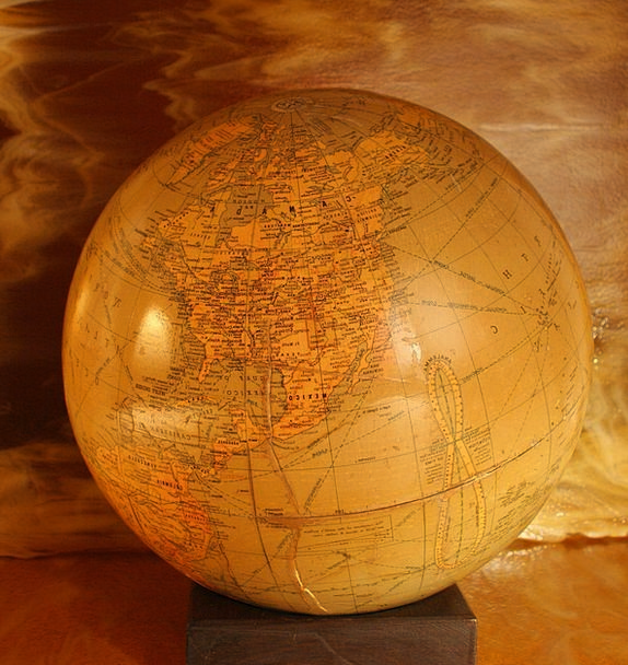 Globe Vacation Biosphere Travel Antique Old World