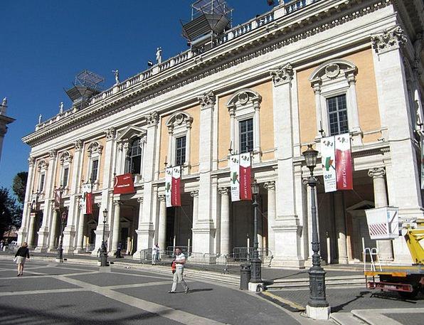 Piazza Del Campidoglio Buildings Architecture Ital