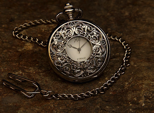 Pocket Watch Timepiece Ornament Chain Cable Jewel