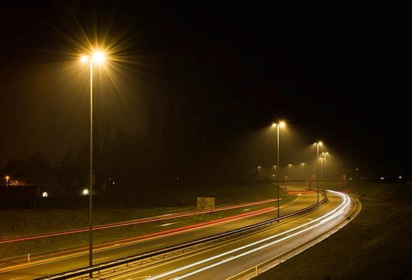 Street Lights Traffic Road Transportation Night Ni