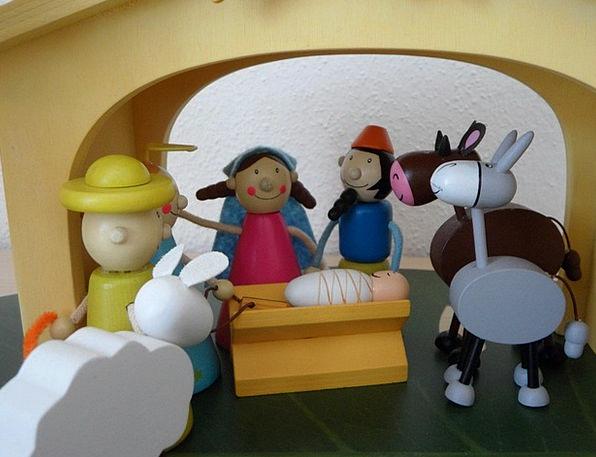 Crib Cheat Children Broods Christmas Crib Figures