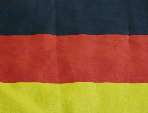 Flag Standard Black Dark Germany Red Bloodshot Gol