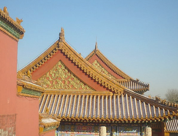 Roof Rooftop Buildings Building Architecture Chine