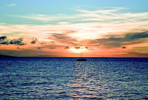 Sunset Sundown Vacation Marine Travel Lake Freshwa