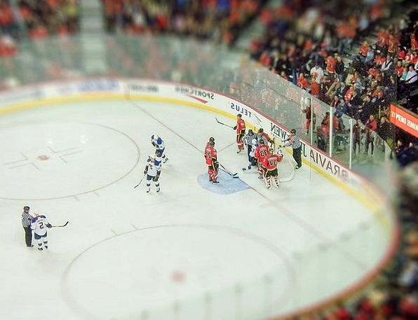 Ice Hockey Arena Sport Diversion Stadium Tilt Shif