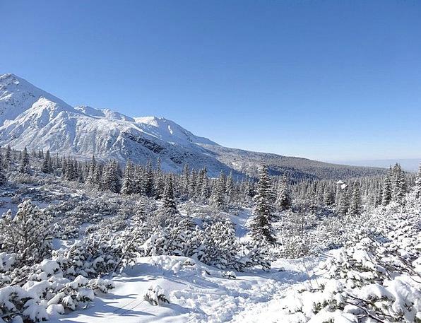 Winter Season Landscapes Crags Nature Poland Mount
