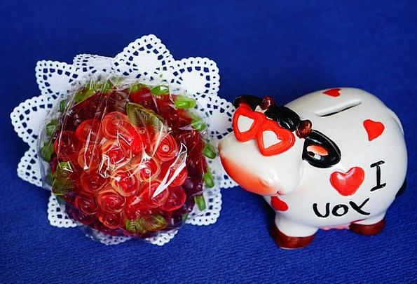 Pig Glutton Bouquet Bunch Lucky Pig Fruit Jelly Ro