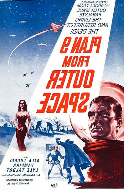 Film Poster Plan 9 From Outer Space Feature Film 1