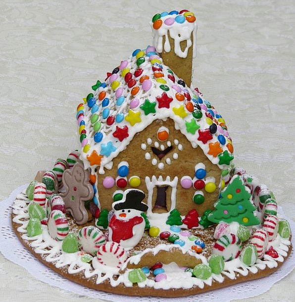 Gingerbread House Pie Decoration Beautification Pa