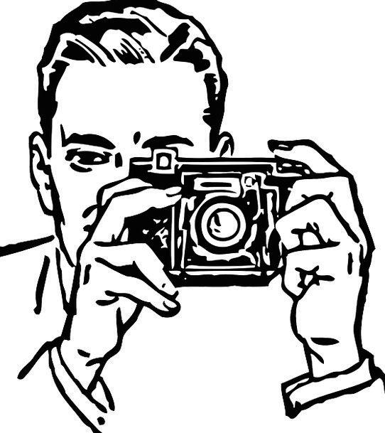 Photographer Paparazzo Gentleman Taking Captivatin