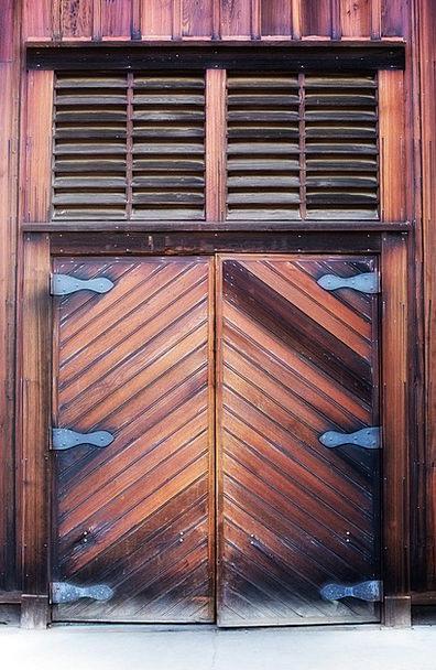 Wooden Door Chocolate Heavy Weighty Brown Rustic R