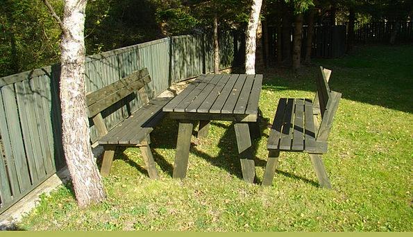 Garden Furniture Plot Bank Set Garden Resting Plac