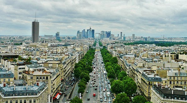 Paris Traffic Transportation La Defense City View