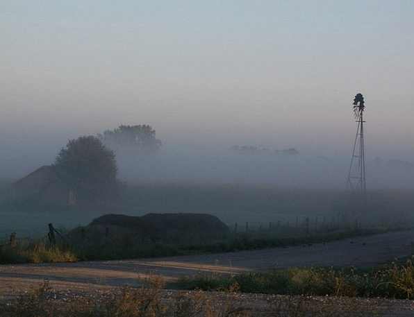 Pinwheel Rocket Fog Mist Windmill Morning A.m. Hol