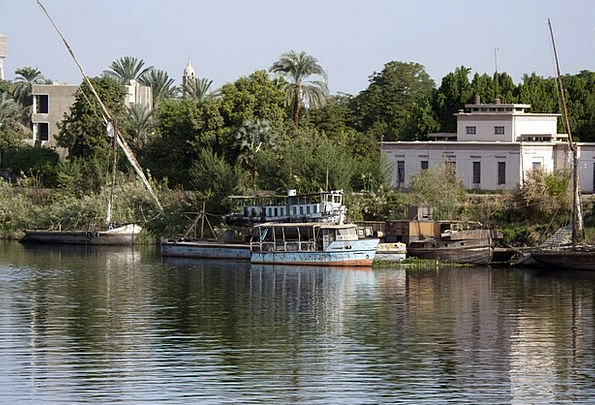 Nile Buildings Architecture Felucca Egypt River St