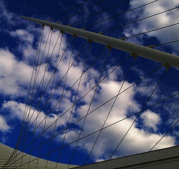 Museum Gallery Blue Clouds Vapors Sky Meteorology