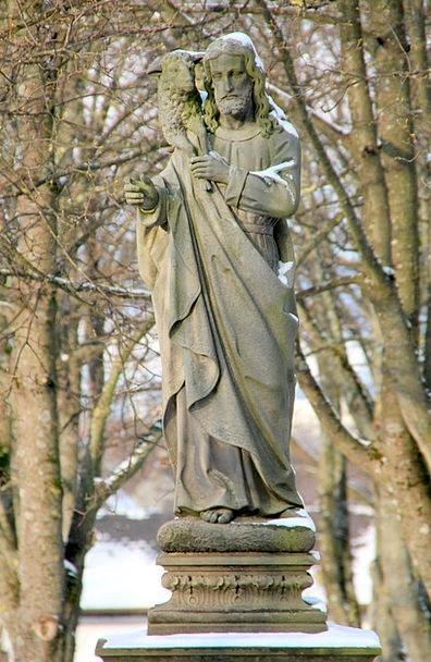 Winter Season Graveyard Sculpture Statue Cemetery